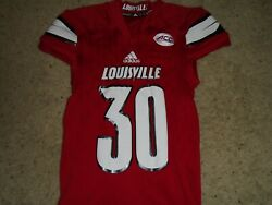 Louisville Cardinals Football Game Used Home Red Jersey Your Choice