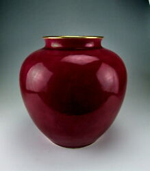 China Antiques Rouge Red Glazed Porcelain Pot W Wax Seal