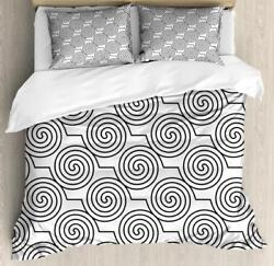 Swirls Duvet Cover Set Twin Queen King Sizes With Pillow Shams