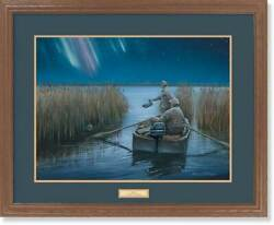 Pals Ii - Northern Lights - Duck Hunters Gna Premium Framed Print By Tom Wosika