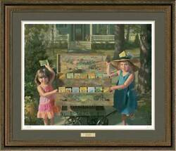 Wildflowers - Little Girls Framed Limited Edition Print By Bob Byerley