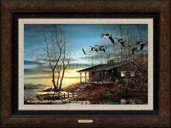 Evening Retreat Framed Legacy Canvas By Terry Redlin