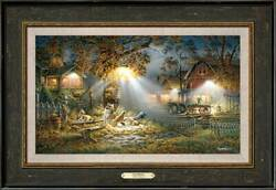 Our Friends Framed Encore Canvas By Terry Redlin