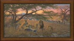 Nyumba Ya Simba - Home Of The Lion Framed Limited Edition Canvas By Michael Siev