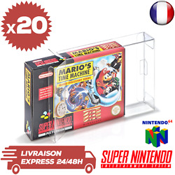 20 Boitiers Protection Crystal Box Jeux Super Nintendo Nintendo 64 Snes 03 Mm