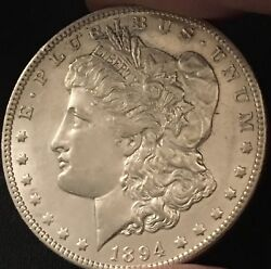 1894-o 1 Morgan Silver Dollar Uncirculated great Condition And Beautiful
