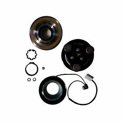 AC Compressor & Clutch Kit Hub Pulley Coil Bearing Replacement VST For MAZDA 3 5