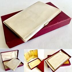 Superb 1936 Silver Walker And Hall Cigarette Case With Gold Plated Interior 200g