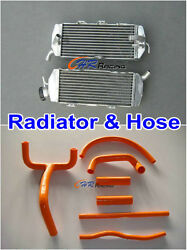 FOR KTM 620 640 660 LC4 replacement Aluminum radiator L&R sides + Silicone Hose