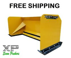 6and039 Xp30 Snow Pusher Boxes Skid Steer Backhoe Loader Bobcat Free Shipping