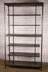 Industrial Reclaimed Wood Retail Fixture. Rustic Clothing Rack. Display Shelving