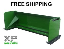 6and039 Xp30 John Deere Snow Pusher Box Free Shipping Skid Steer Loader Tractor