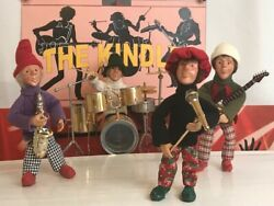 Byers Choice Carolers The Kindles Tribute Rock Band Ooak