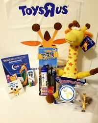 Toys R Us Pez Geoffrey Plush Keychain Coloring Book Crayons And More