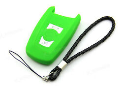 Green Silicone Case Cover Fit For BMW 5 7 Series Remote Smart Key 3 Buttons B5GR