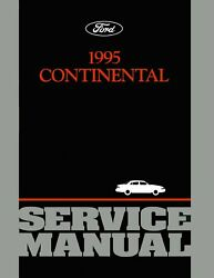Bishko OEM Repair Maintenance Shop Manual Bound for Lincoln Continental 1995