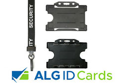 Security Guard Sia Lanyard / Neck Strap And Id Card Badge Pass Holder - Freepost