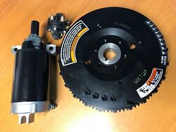 Electric Start Flywheel Starter Motor And Solenoid Yamaha 25hp F25a 4str Outboard