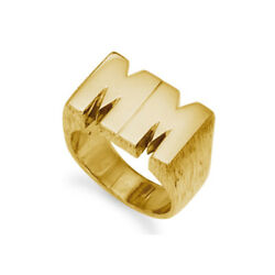 9ct Gold Hallmarked Personalised Heavy Gents Initial Ring - Any Two Letters