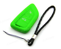Green Silicone Case Cover Fit For BMW 3 4 Buttons Remote Smart Key X5 X6 X56GR