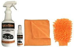 Spit N Shine Car Cleaning Kit Chrome Wheels Glass Removes Grime Bugs Grease