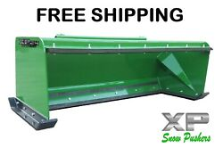 7and039 Xp24 John Deere Snow Pusher W/ Pullback Bar- Tractor Loader Andndash Free Shipping