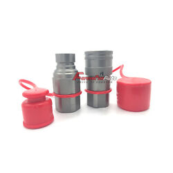 1/2 Skid Steer Bobcat Flat Face Hydraulic Quick Connect Coupler / Coupling Set