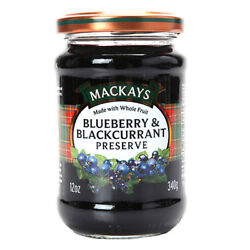 Mackays Blueberry Blackcurrant Preserve Jam 12 Oz With Tracking Natural Fruit