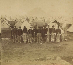 Civil War Stereoview By Anthony. Union Solders Winter Quarters. City Point, Va.