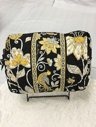 Vera Bradley RARE Yellow Bird Large Cosmetic Bag Case for Purse Tote Travel NWOT