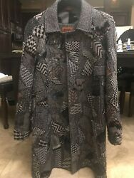 Missoni Mens Overcoat Sz52 Was6k One Of A Kind Collectors Item Perfect Condition