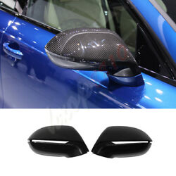 Without Auxiliary Carbon Fiber Rear View Mirror Fit For Audi A7 11-17 Cover Trim