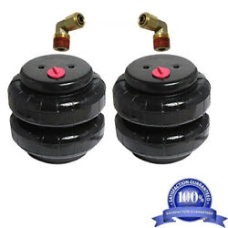 V Air Bags Two 2500 Lb W/ 1/2 Hose Elbow For Truck Tow Air Ride Suspension