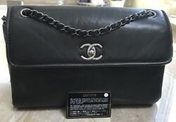 Authentic w card Classic Quilted Chanel Large Flap Bag
