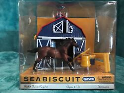BREYER Seabiscuit Thoroughbred Pocket Barn Play Set Special 600303 2003 RARE