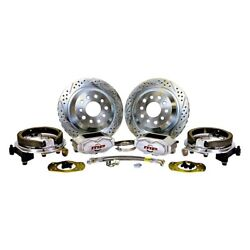 For Dodge Charger 66 Pro Driver Drilled And Slotted Rear Brake Conversion Kit