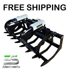 Es 78 Hd Grapple- New Skid Steer Quick Attach Brush Grapple, Free Shipping