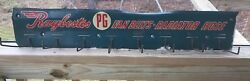 Rare Vintage 1940and039s Raybestos Fan Belts Radiator Hose Gas Station Sign 34andrdquo Long