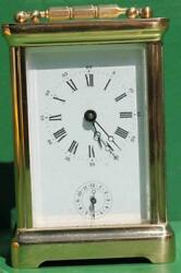Vintage French Land039epee 8 Day Alarm Carriage Clock Corniche Case