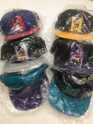 vtg 90's Disney MICKEY MOUSE Flat Bill Ball Cap Hat Choice of colors New Old Sto