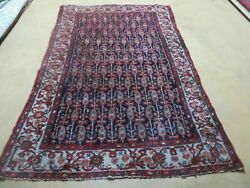4and039 X 6and039 Antique Hand Made Turkish Sivas Wool Rug Vegetable Organic Dye Nice Blue