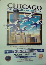 Chicago Air And Water Show 1999 Poster 18 X 24
