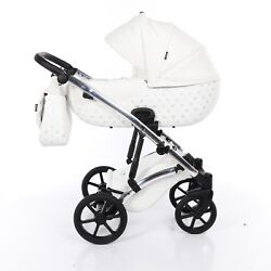Most Exclusive Tako Laret Imperial White + Silver Baby Pram Buggy Pushchair