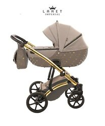 Most Exclusive Tako Laret Imperial Brown + Gold Baby Pram Buggy Pushchair