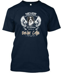 Casual Love With My Border Collie Dog - Never Underestimate Premium Tee T-Shirt