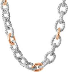 Charles Garnier Ducale 20 Rose-gold-plated Sterling Silver Wide Link Necklace