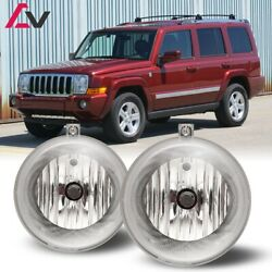 For Jeep Commander 06-10 Clear Lens Pair Bumper Fog Light Lamp Replacement