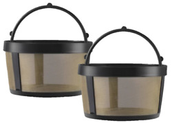 2 Replacement Goldtone Reusable 4 Cup Basket Coffee Filter, Mr. Coffee Makers