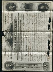 1867 1000 Canal Department Enlargement Loan State Of New York C