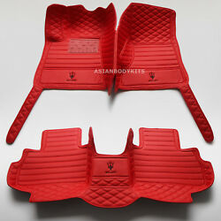 For Maserati Levante Floor Mats Eco Leather S Gts Trofeo Different Colors